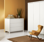 Quax Stripes kledingkast 3 deuren Wit