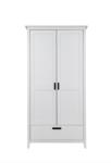 Infanskids Solvita 2 deurs kledingkast + lade wit