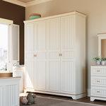Almila Monte 4-deurs kledingkast wit