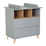 Quax Loft commode grijs/naturel beuken