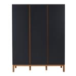 Quax Indigo moonshadow kledingkast 3 deuren antraciet/naturel beuken