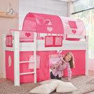 Relita alex hartjes roze tenten bed wit beuken