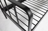 Woood Mees bed metaal zwart 90x200_