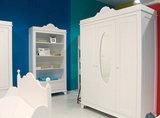 Bopita romantic 3 deurs kleding kast met spiegel wit kinderbeddenstore
