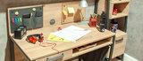 Almila Irony Bureau tafel blank eiken & antraciet_