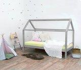 Villa per Bambini Livio huis bed 90x200 hout grijs_