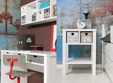 Bopita Basic wood bureau grenen white wash_