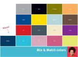 Bopoita medium bakken kleuren kaart