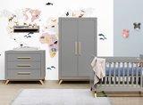 Bopita Fenna commode 3 laden grey - naturel_