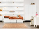 Bopita Locker bedbank met 3 laden 90x200 wit_