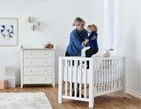 Hoppekids Anton baby ledikant - bedbank 60x120 grenen wit_