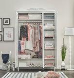 Lora 3-deurs kledingkast wit_