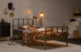 Woood Mees bed metaal 90x200 army_