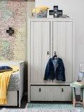 Stapelgoed Loft 2 deurs kast hout grijs