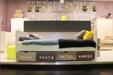 Bopita Basic wood bedbank 90x200 grenen white wash_