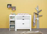 Bopita Basic wood Babyflex 3 laden commode 90 cm white wash/naturel_