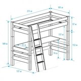 Beddyfurn Bed 4 life van 1 tot 18+ 5 modellen inclusieve 90x200 grenen wit_