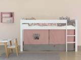 Bopita speelhuisje/Bedtent grey/soft rose - t.b.v. halfhoogslaper