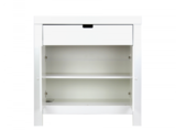 Bopita Babyflex 1 laden / 2 deuren commode 90 cm wit beuken front_