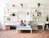 Hoppekids Storey wandkast met  14 planken en bed 90 x 200 cm