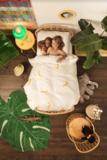 Snurk dekbedovertrek junior 120 x 150 cm Banana Monkey