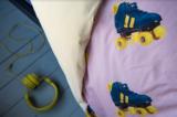 Snurk dekbedovertrek rollerskates 1-persoons 140 x 200 cm