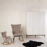 Quax havana kledingkat 6 deuren wit/zwart
