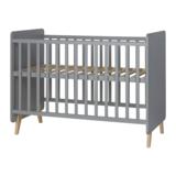 Quax Loft 3-delige babykamer grijs/naturel beuken