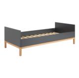 Quax Indigo moonshadow bed 90x200 antraciet/naturel beuken