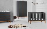 Quax Indigo moonshadow 3-delige babykamer antraciet/naturel beuken