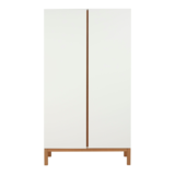 Quax Indigo kledingkast 2 deuren wit/naturel beuken
