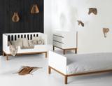 Quax Indigo ledikant/bedbank 70x140 wit/naturel beuken