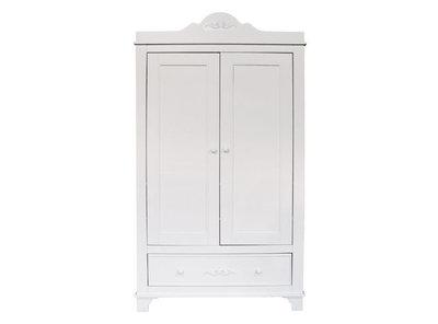 Bopita Romantic 2 deurs kleding kast XL wit
