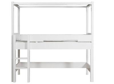 Bopita combiflex compleet halfhoog hemelbed 90 x 200 wit