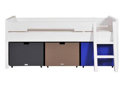 Bopita combiflex compactbed 90 x 200 + 3 bakken + trap wit