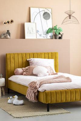 Coming kids Luno 120x200 luxe gestoffeerd twijfelaar bed