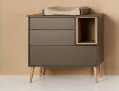 Quax Cocoon commode 3 laden + 1 open vak Moss