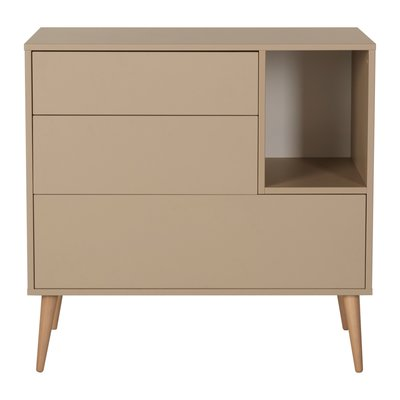 Quax Cocoon commode 3 laden + 1 open vak Latte