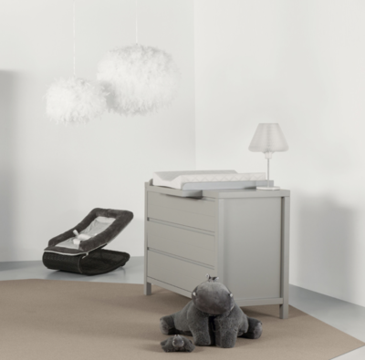 Quax Stripes commode 3 lades griffin grey