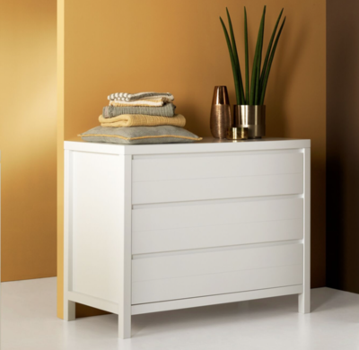 Quax Stripes commode 3 lades wit