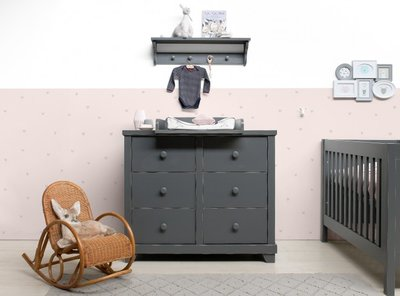 Bopita Country commode 6 laden vintage grey