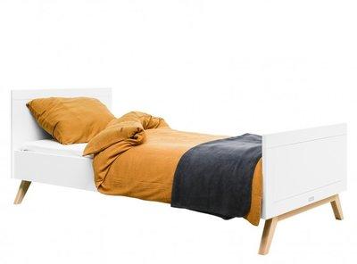 Bopita Fenna tiener bed 90x200 wit - naturel
