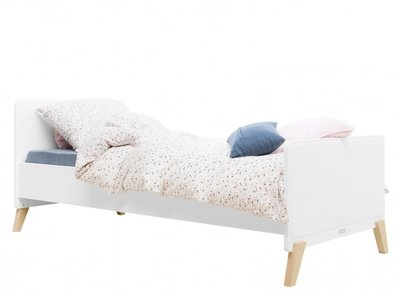Bopita Mila tiener bed 90x200 wit - naturel