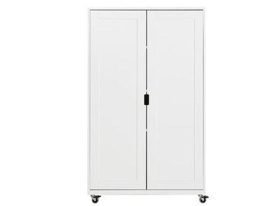 Bopita 2 deurs kastje op wielen medium wit