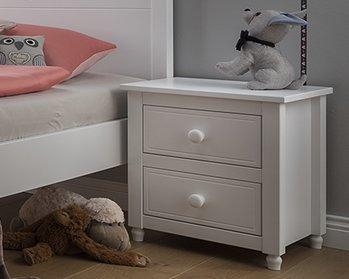 Infanskids Emma nachtkastje met 2 laden wit