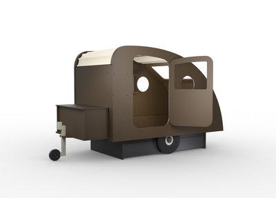 Mathy by Bols design Caravan bed 90x190 kleur Artisjok L.AR