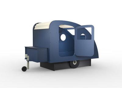 Mathy by Bols design Caravan bed 90x190 kleur Atlantisch blauw L.BU AT