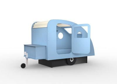 Mathy by Bols design Caravan bed 90x190 kleur Azur blauw L.BU AZ