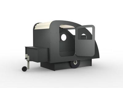 Mathy by Bols design Caravan bed 90x190 Basalt grijs L.GR BA