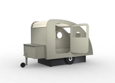 Mathy by Bols design Caravan bed 90x190 Cement grijs L.GR CI